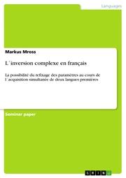 L'inversion complexe en français