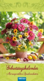 Geburtstagskalender 'Blumen'