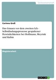 Das Grauen vor dem zweiten Ich - Selbstfindungsprozesse gespaltener Persönlichkeiten bei Hoffmann, Meyrink und Kubin