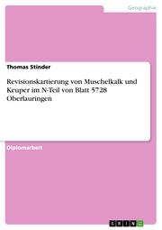 Revisionskartierung von Muschelkalk und Keuper im N-Teil von Blatt 5728 Oberlauringen