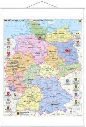 Deutschland politisch mit Wappen