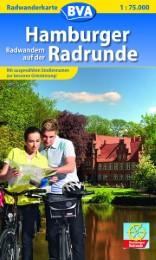 Radwanderkarte BVA Radwandern auf der Hamburger Radrunde 1:75.000
