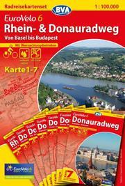 Rhein- & Donauradweg Kartenset