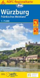 ADFC-Regionalkarte Würzburg Fränkisches Weinland mit Tagestouren-Vorschlägen, 1:75.000, reiß- und wetterfest, GPS-Tracks Download