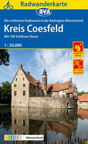 Radwanderkarte BVA Radregion Münsterland Kreis Coesfeld 1:50.000, reiß- und wetterfest, GPS-Tracks Download