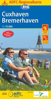 ADFC-Regionalkarte Cuxhaven Bremerhaven mit Tagestouren-Vorschlägen, 1:75.000, reiß- und wetterfest, GPS-Tracks Download