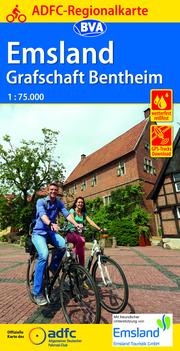 ADFC-Regionalkarte Emsland Grafschaft Bentheim mit Tagestouren-Vorschlägen, 1:75.000, reiß- und wetterfest, GPS-Tracks Download