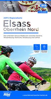 ADFC-Regionalkarte Elsass Oberrhein Nord, 1:75.000, reiß- und wetterfest, GPS-Tracks Download
