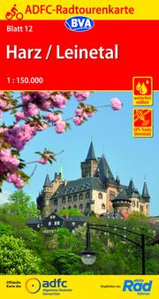 ADFC-Radtourenkarte 12 Harz/Leinetal 1:150.000, reiß- und wetterfest, GPS-Tracks Download