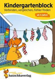 Kindergartenblock - Verbinden, vergleichen, Fehler finden ab 4 Jahre, A5-Block