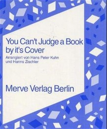 You can't judge a book by it's cover