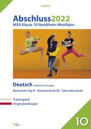Abschluss 2022 - Mittlerer Schulabschluss Nordrhein-Westfalen Deutsch Realschule
