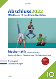 Abschluss 2022 - Mittlerer Schulabschluss Nordrhein-Westfalen Mathematik Realschule