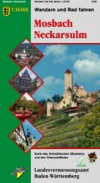 Wanderkarte 1:35000 Mosbach Neckarsulm
