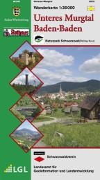 Wanderkarte 1:35000 Unteres Murgtal Baden-Baden