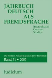 Jahrbuch Deutsch als Fremdsprache. Intercultural German Studies
