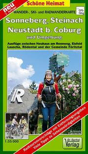 Wander-, Ski- und Radwanderkarte Sonneberg, Steinach, Neustadt b. Coburg und Umgebung