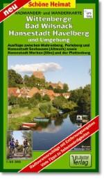 Radwander- und Wanderkarte Wittenberge, Bad Wilsnack, Hansestadt Havelberg und Umgebung