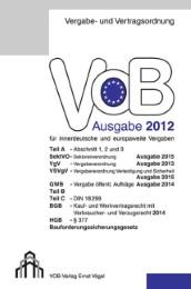 VOB Ausgabe 2012 für innerdeutsche und europaweite Vergaben