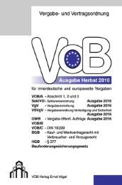 VOB für innerdeutsche und europaweite Vergaben 2016