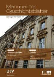 Mannheimer Geschichtsblätter. rem-magazin
