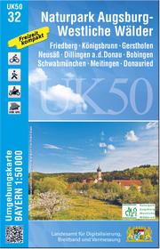 UK50-32 Naturpark Augsburg - Westliche Wälder