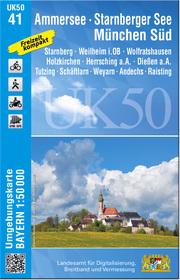 UK50-41 Ammersee, Starnberger See, München-Süd