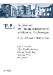 Beiträge zur 49. Tagung experimentell arbeitender Psychologen