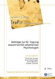 Beiträge zur 52. Tagung experimentell arbeitender Psychologen