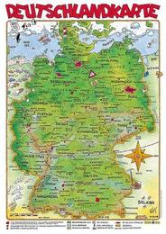 Cartoonlandkarte Deutschland