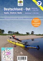 Wassersport-Karte - Deutschland Ost für Kanu- und Rudersport