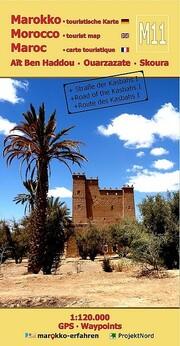 M11: Aït Ben Haddou - Ouarzazate - Skoura 1:120.000 + GPS-Waypoints