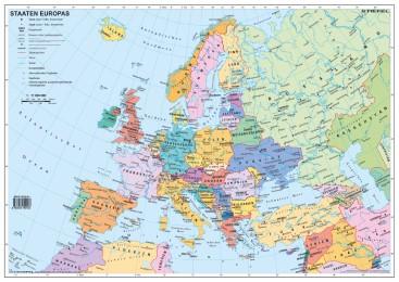 Handkarte - Staaten Europas