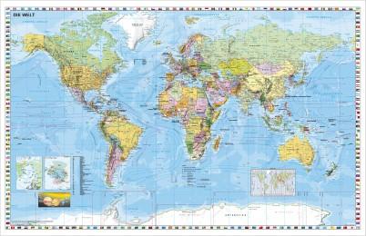 Weltkarte politisch Kleinformat