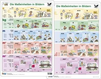 Fixi Lern Cards / Maßeinheiten in Bildern - Lernkarte DIN A4
