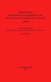 Geschichte der ägyptischen und der babylonisch-assyrischen Literatur