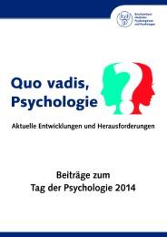 Quo vadis, Psychologie