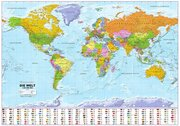 Politische Weltkarte mit Flaggen, deutsch