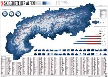 633 Skigebiete der Alpen