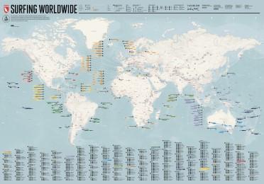 Surfing Worldwide - Map