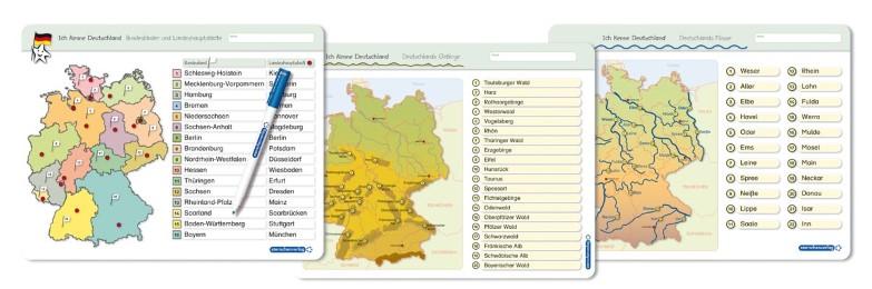 Ich kenne Deutschland - 1. Bundesländer & Landeshauptstädte, 2. Flüsse, 3. Gebirge im Set