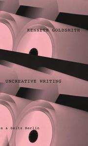 Uncreative Writing