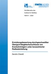 Ermüdungsbewertung durchgeschweißter Obergurt- Stegblechanschlüsse von Kranbahnträgern unter konzentrierter Radlasteinleitung