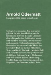Arnold Odermatt - Ein gutes Bild muss scharf sein!