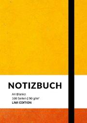 Notizbuch A4 blanko - 100 Seiten 90g/m2 - Soft Cover - FSC Papier
