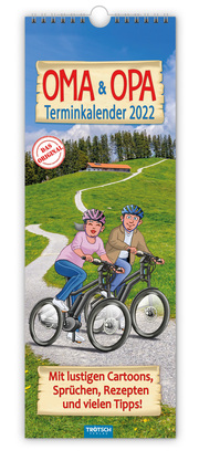 Trötsch Maxi Streifenkalender Oma und Opa 2022