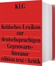 Kritisches Lexikon zur deutschsprachigen Gegenwartsliteratur (KLG) - Cover