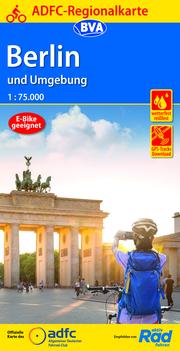 ADFC-Regionalkarte Berlin und Umgebung 1:75.000, reiß- und wetterfest, GPS-Tracks Download