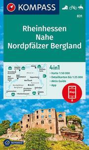 KOMPASS Wanderkarte Rheinhessen, Nahe, Nordpfälzer Bergland