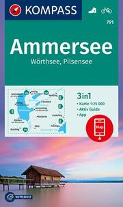 KOMPASS Wanderkarte Ammersee, Wörthsee, Pilsensee
